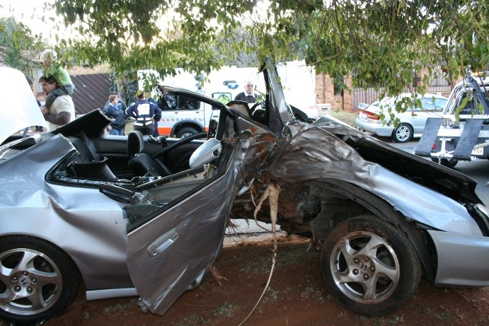 Victim airlifted following crash into tree.   Road Safety & Arrive ...
