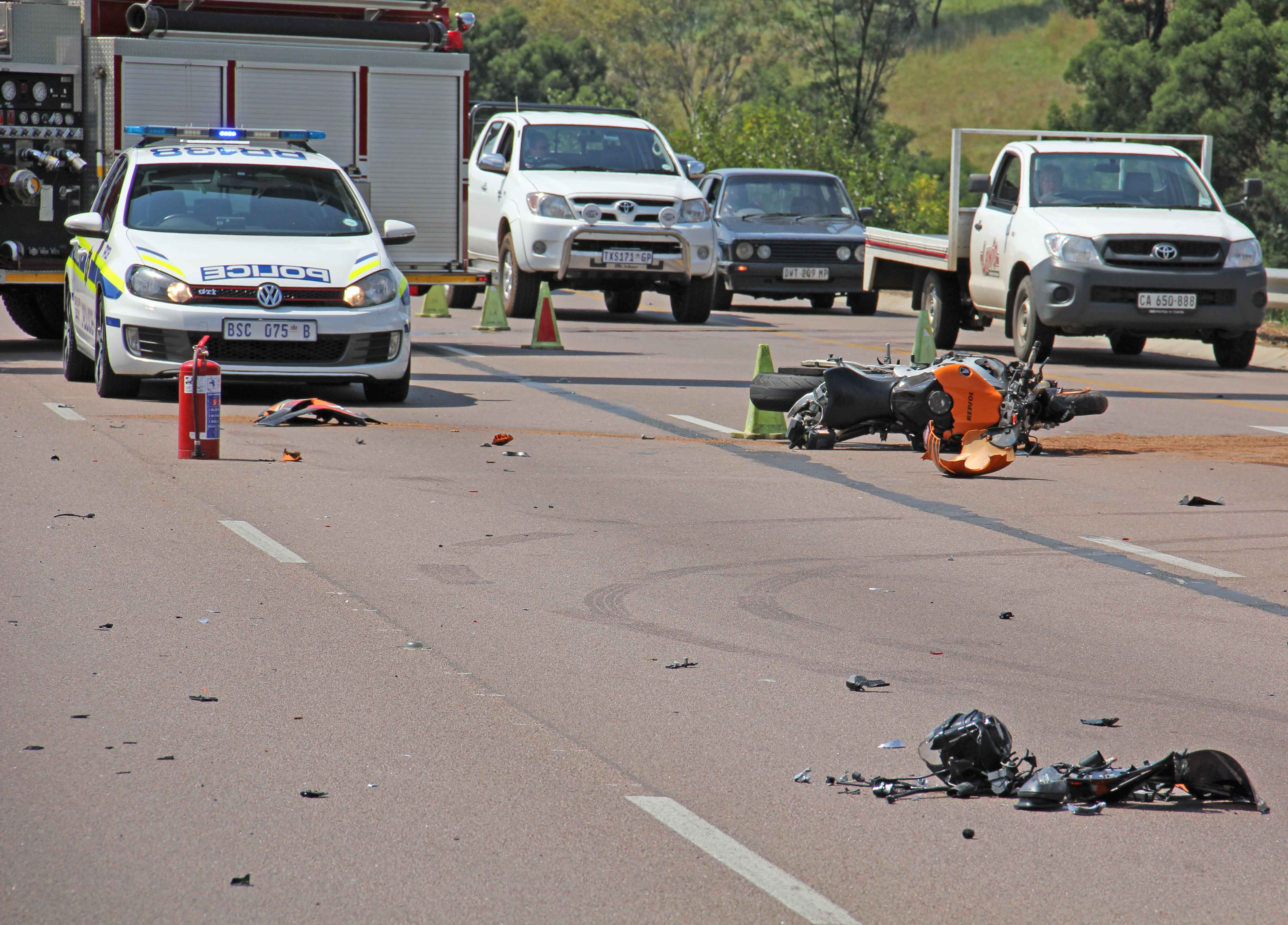 Motorcyclists Critically Injured In N1 Rigel Crash Road