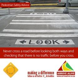 pedestrian look before crossing