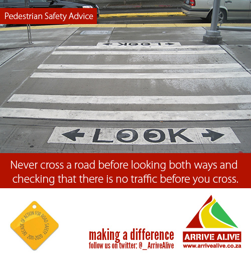pedestrian look before crossing