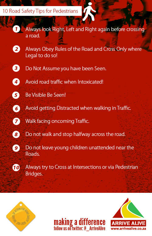 10 Pedestrian Safety Tips