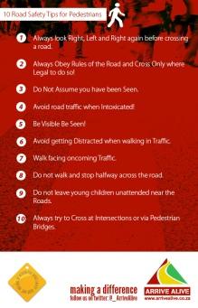 10 Pedestrian Safety Tips