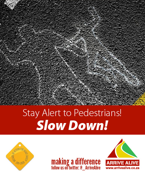 Arrive Alive tweet slow down