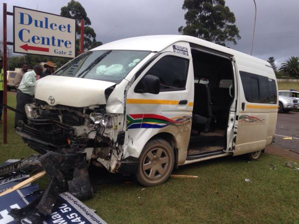Taxi and car collide injuring 8, Howick.